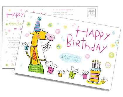 Aniversário Cartões postai