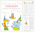 Birthday Word Templates