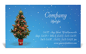 Christmas Holiday Business Card Template