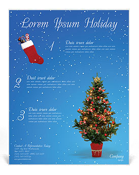 Christmas Holiday Flyer Template & Design ID 0000000759 ...