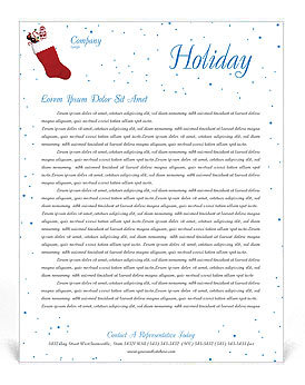 Christmas Holiday Letterhead Template