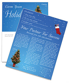 Christmas holiday newsletter template design id 0000000759 christmas holiday newsletter template maxwellsz