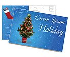 Christmas Holiday Postcard Templates