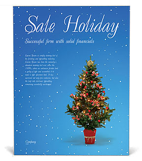 Christmas Holiday Poster Template