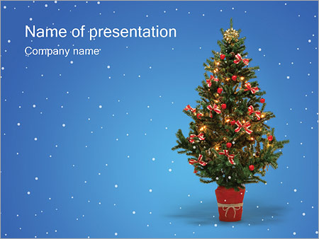 christmas holiday powerpoint template backgrounds google slides