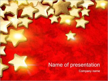 Gold Stars I pattern delle presentazioni del PowerPoint