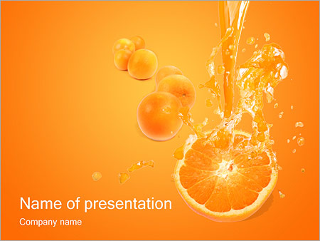 Orange juice powerpoint template backgrounds google slides id orange juice powerpoint template toneelgroepblik Image collections