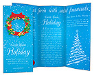 Christmas Wreath Brochure Templates