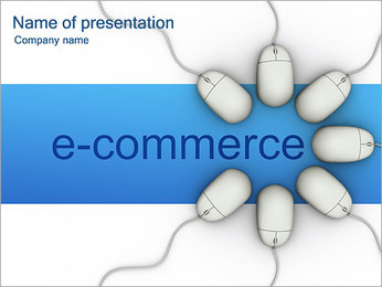 E-Commerce Sjablonen PowerPoint presentatie