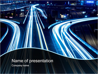 Night Traffic PowerPoint Template