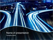 Night Traffic PowerPoint Templates