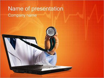 Online Medical Help PowerPoint Template
