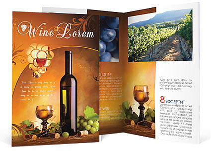 Wine brochure template design id 0000000801 for Wine brochure template