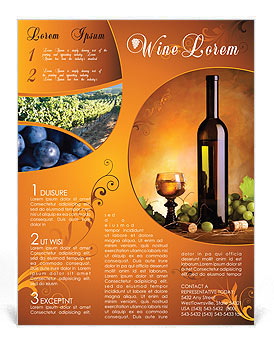 Wine Flyer Template & Design ID 0000000801 - SmileTemplates.com