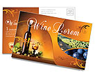 Wine Postcard Template