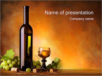 ワイン PowerPointプレゼンテーションのテンプレート