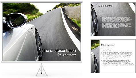 Automobile Modèles des présentations  PowerPoint