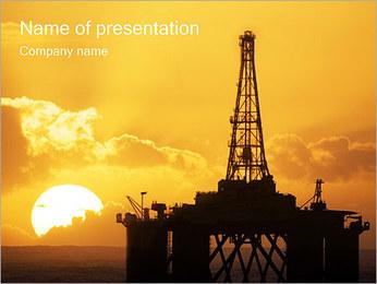 海底油田 PowerPointプレゼンテーションのテンプレート