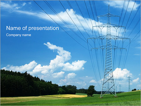 High voltage wires powerpoint template backgrounds id 0000000811 high voltage wires powerpoint template toneelgroepblik