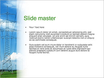 High Voltage Wires PowerPoint Template