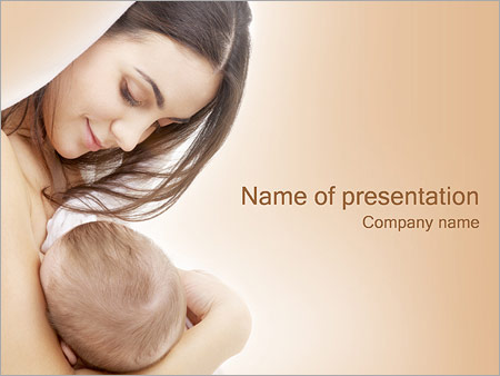 Mother With Baby Powerpoint Template Backgrounds Google Slides