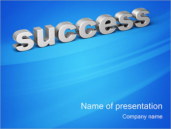 3D Text Success PowerPoint Template