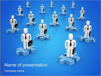 Business Samarbete PowerPoint presentationsmallar
