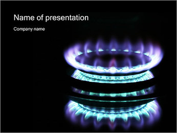 Blue Gas PowerPoint Template