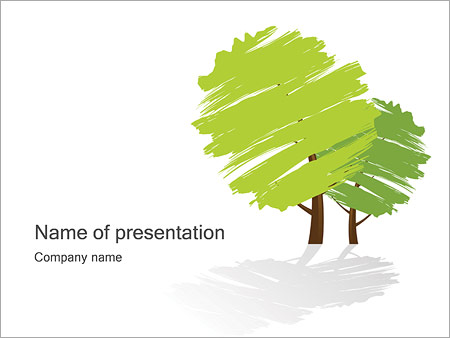 Green Trees Powerpoint Template Backgrounds Google Slides Id