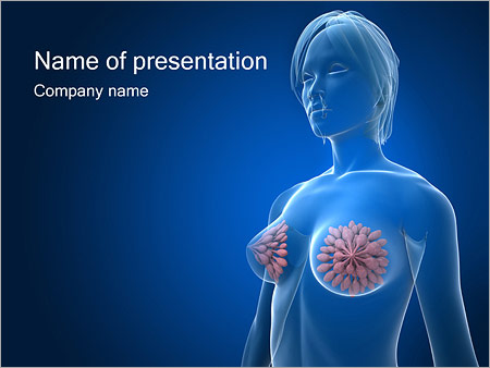 Cancer powerpoint template smiletemplates female breast powerpoint templates toneelgroepblik Images