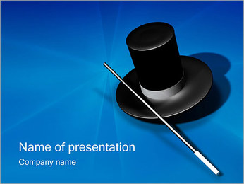 Magic Hat & Wand PowerPoint Template