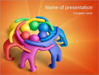 Trabalho em equipe Modelos de apresentações PowerPoint - Slide 1