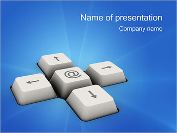Keyboard Button PowerPoint Template