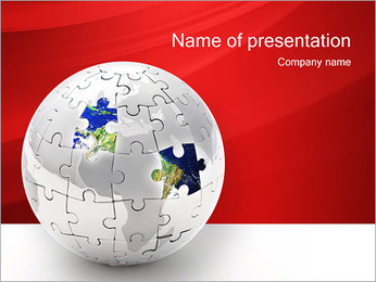 Tierra Missing Pieces Plantillas de Presentaciones PowerPoint