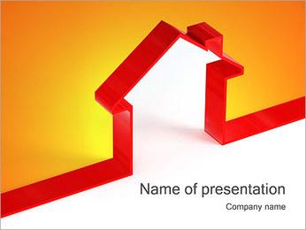 Shape House PowerPoint Template - Slide 1
