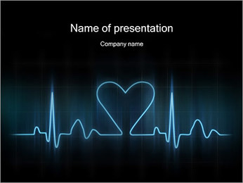 Lovers Hart cardiogram Sjablonen PowerPoint presentatie