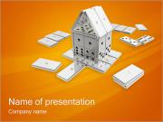 Domino House PowerPoint Templates