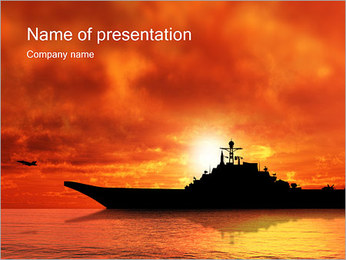 Warship PowerPoint Template