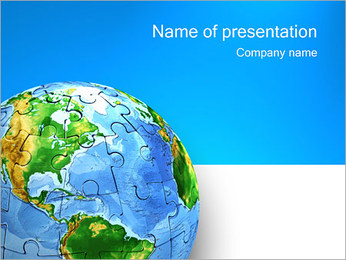 Earth Puzzle PowerPoint Template
