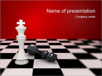 Bílý král Won PowerPoint šablony