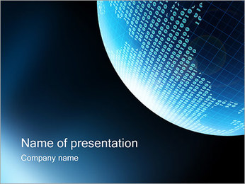 Digital World PowerPoint Template