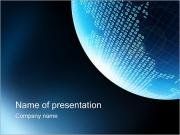 Digital World I pattern delle presentazioni del PowerPoint