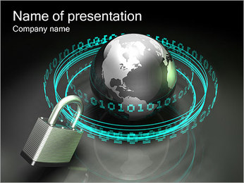 Internet Security Sjablonen PowerPoint presentatie