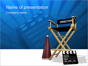 Director PowerPoint Template - Slide 1