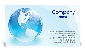 Glass Globe Business Card Templates