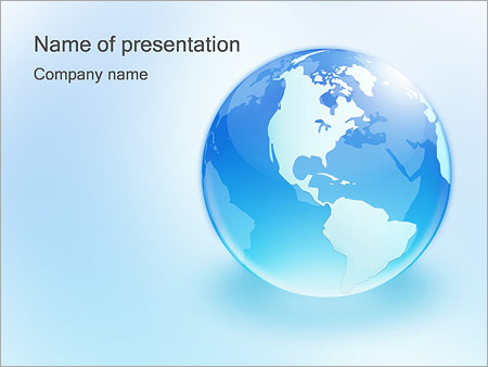 glass globe powerpoint template & backgrounds id 0000000871, Powerpoint templates
