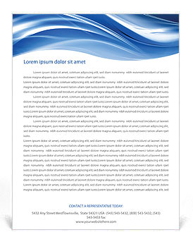Creative Waves Letterhead Template Design Id 0000000873