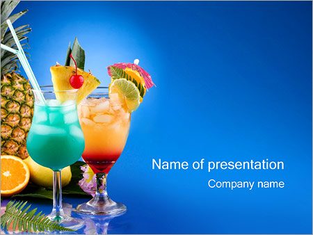 cocktails powerpoint template & backgrounds id 0000000874, Modern powerpoint