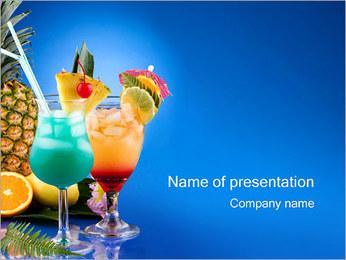 Cocktails Sjablonen PowerPoint presentatie