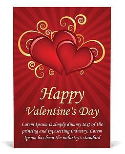 Día de San Valentín Plantillas de anuncio